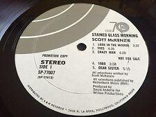 """SCOTT MACKENZIE 12"""" LP Stained Glass Morning 1970 ODE PROMO w/Inner Sleeve RARE"""