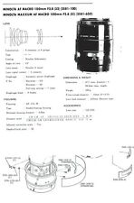 Minolta af macro 100mm f2.8 service repair manual