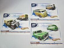 Lot of 3 Hot Wheels Collectors Promo Cards w/ VW Drag Bus