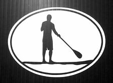 STAND UP PADDLE BOARD SUP GUY STICKER (200mm X 160mm)