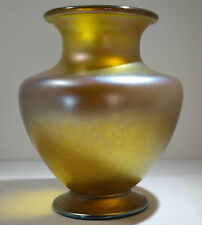 Louis Comfort Tiffany Furnaces Favrile Glass Grand Vase Orange Color Circa 1900