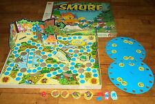 Vintage The Smurf Game - 1981 3D Board Game Milton Bradley ~FOR PARTS