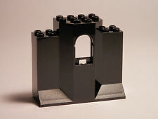 LEGO LEGOS - Set of 2 NEW Castle Turret Wall Panels 3X8X6 with Arch Window BLACK