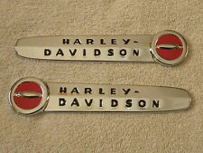 "Harley 1947-1950 Fuel Tank Emblem SET with ""Complete"" MOUNTING KIT & Screws"