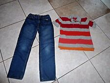 boys clothes set outfit jeans top shirt aeropostale size 7 8  orange blue