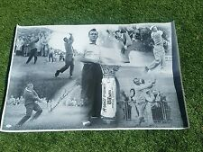 MUST SEE! MASTERS GOLF LEGEND ARNOLD PALMER SIGNED 24x36 CANVAS PHOTO JSA COA