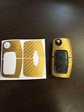 Carbon Gold Folie Schlüssel Ford MK2 Galaxy C S Max Fiesta Smax CMax RS ST Focus