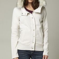 New! Fox Racing Womens Small Reflect Fur Trimmed Jacket Heather Pearl