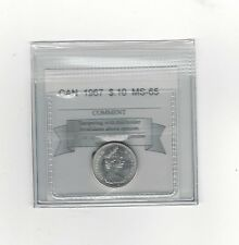 **1967** Coin Mart Graded Canadian,  10  Cent, **MS-65**