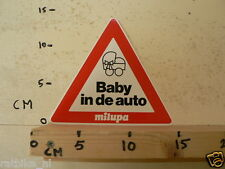 STICKER,DECAL BABY IN DE AUTO MILUPA KINDERWAGEN