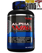 BODY WAR NUTRITION ALPHA WAR 192 CAPS TEST BOOSTER MALE SUPPORT MAX STRENGTH BSC