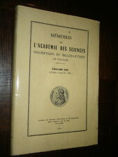 MEMOIRES DE L'ACADEMIE DES SCIENCES DE TOULOUSE - Volume 138 - 1976