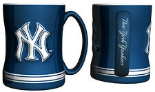 New York Yankees Coffee Mug - 15oz Sculpted [NEW] Tea Warm Microwave Cup CDG