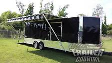 NEW 8.5X24 8.5 X 24 V Nose Enclosed Cargo Trailer Car Toy Hauler Pro Race 3 Pack