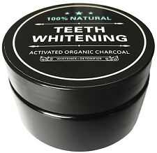 100% ORGANIC ACTIVATED COCONUT CHARCOAL - NATURAL TEETH WHITENING  FORMULA