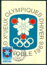 France Olympische Spiele Olympic Games 1968 Maxicard with First Day cancel