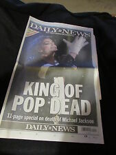 New York Daily News June 26 2009 Michael Jackson Dead Farrah Full Newspaper