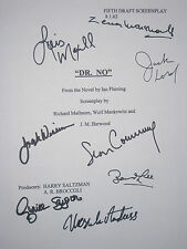 Dr. No Signed Movie Script X8 James Bond Sean Connery Maxwell Jack Lord reprint