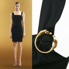 sz L NEW $1590 GUCCI Black G LOGO Equestrain HORSE JERSEY LBD Cocktail DRESS US8