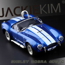 Blue 1:24 Scale 1965 FORD SHELBY COBRA 427 S/C Diecast model with Sound & Light