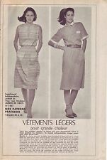 PATRON DE COUTURE Vêtements Légers pour grande chaleur taille 44 à 48