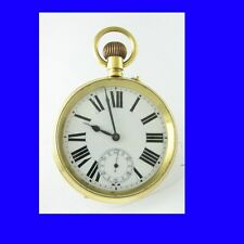 Rare 9k Gold Goliath Roskopf Patent Pocket Watch 1917