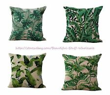 Set of 4 tropical palm leaf cushion covers home decoration cover throw pillows