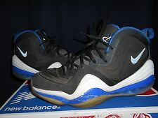 Nike Air Penny V 5 Orlando Magic Sz 9 537331-040 Black Blue READ TRASHED