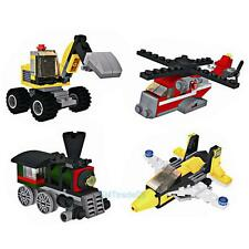 Kid Plastic Engineering Assembling Building Block Jigsaw Truck Aircraft Toy Gift