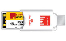 Strontium NITRO 16 GB UHS-I microSDHC/XC with OTG Card Reader 16GB micro sd