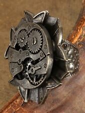 SteamPunk Cosplay Victorian Watch Gears Adjustable Ring #14014 NEW UNUSED
