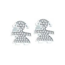 SINGLE EARRING LE BEBè PAVè GIRL WHITE 18 KT GOLD DIAMONDS LBB 016 BOX ORIGINAL