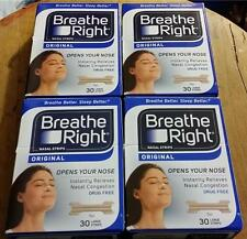 120 BREATHE RIGHT NASAL STRIPS, LARGE TAN ( 4 x 30 CT BOXES) SHIPS WORLD WIDE!