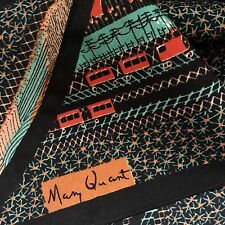 Beautiful Vintage MARY QUANT Little Red Trains Long Soft Scarf