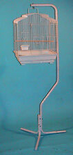 NEW Parrot Bird Cage Hanger With Metal Hook White Stand #84806-100
