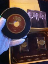 Boardwalk Empire Promo, Season 4, 2 Shot Glasses Hbo,Prohibition,NUCKY. With DVD