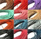 QUALITY LEATHER ROUND CORD THONG 3mtrs 1mm 1.5mm 2mm COLOUR CHOICE