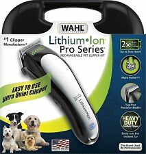 Wahl 9766 Cordless Lithium Ion Pro Series Pet/Dog Clippers Grooming Trimmer READ