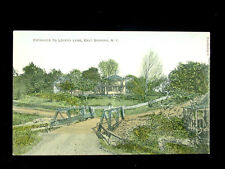 1909 Homes Entrance to Lovers Lane East Durham NY post card Greene County