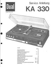 Dual Original Service Manual für KA 330