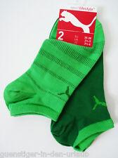 PUMA 2 Paar Damen Socken Füßlinge Sneaker Socken grün socks 35 36 37 38 NEU