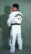 adidas Champion TKD Uniform with TKD embroidery, Black Collar, Size 7/210