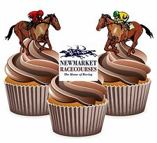 Horse Racing Newmarket Racecourse - 12 Edible Cup Cake Toppers Cake Decorations