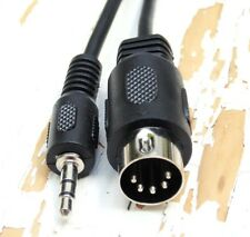 CABLE AUDIO JACK 3.5 MACHO ESTEREO A DIN MACHO 5 PIN 180º 1,5 METROS