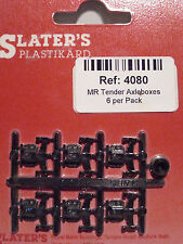 Slaters 4080 - 4mm (00) - 6 x MR Tender Axleboxes Plastic Kit Parts - 1st Post