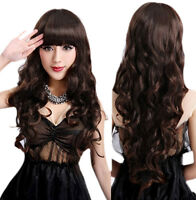 Women Curly Wavy Long Sexy Synthetic Hair Cosplay Party Costume Full Wig+Cap