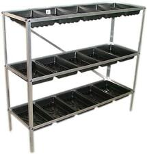 Maxi Greenhouse Staging Seed Trays Frame Three Tier