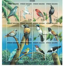 Madagascar - Birds, Fauna, 1999 - Sc 1397 Sheetlet of 12 MNH