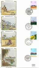 Great Britain SC # 1015-1018 Commonwealth Day FDC. Colorano Cachet