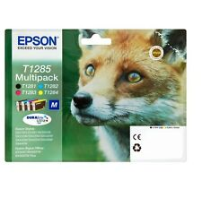 EPSON T1285 4 PACK BLACK CYAN MAGENTA YELLOW FOR STYLUS